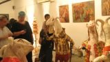 פסל מתוך תערוכה משולבת סוכות